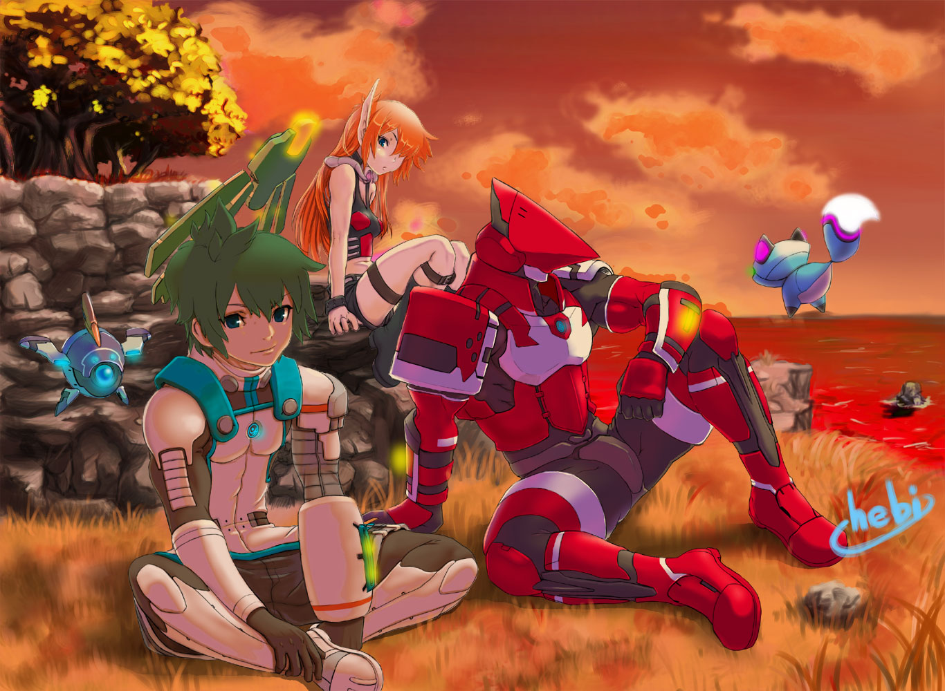 Nice Images Collection: Phantasy Star Desktop Wallpapers