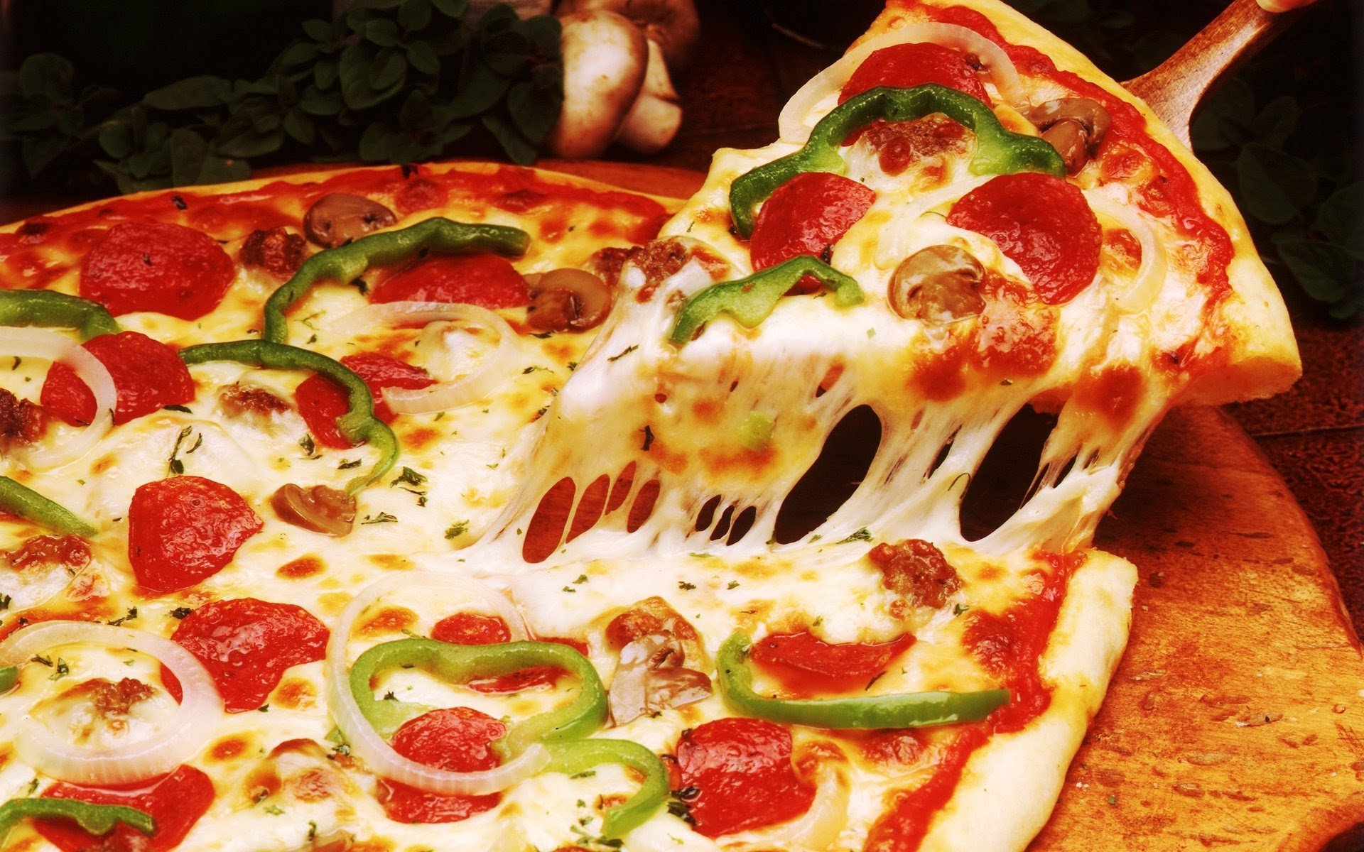 HD Quality Wallpaper   Collection: Food, 1920x1200 Pizza