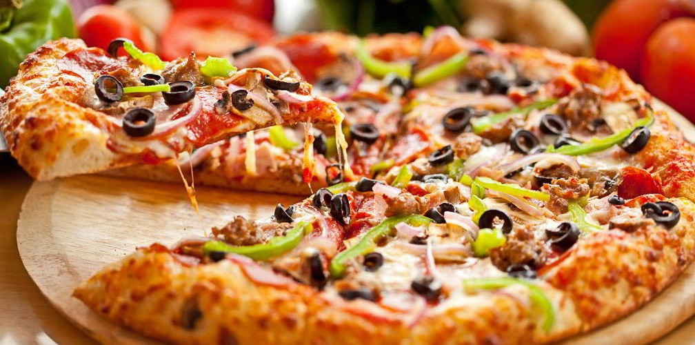 HD Quality Wallpaper | Collection: Food, 1008x500 Pizza
