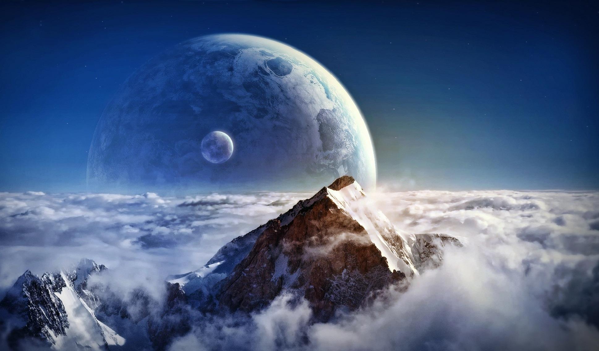 Planet Rise Backgrounds, Compatible - PC, Mobile, Gadgets| 1938x1136 px