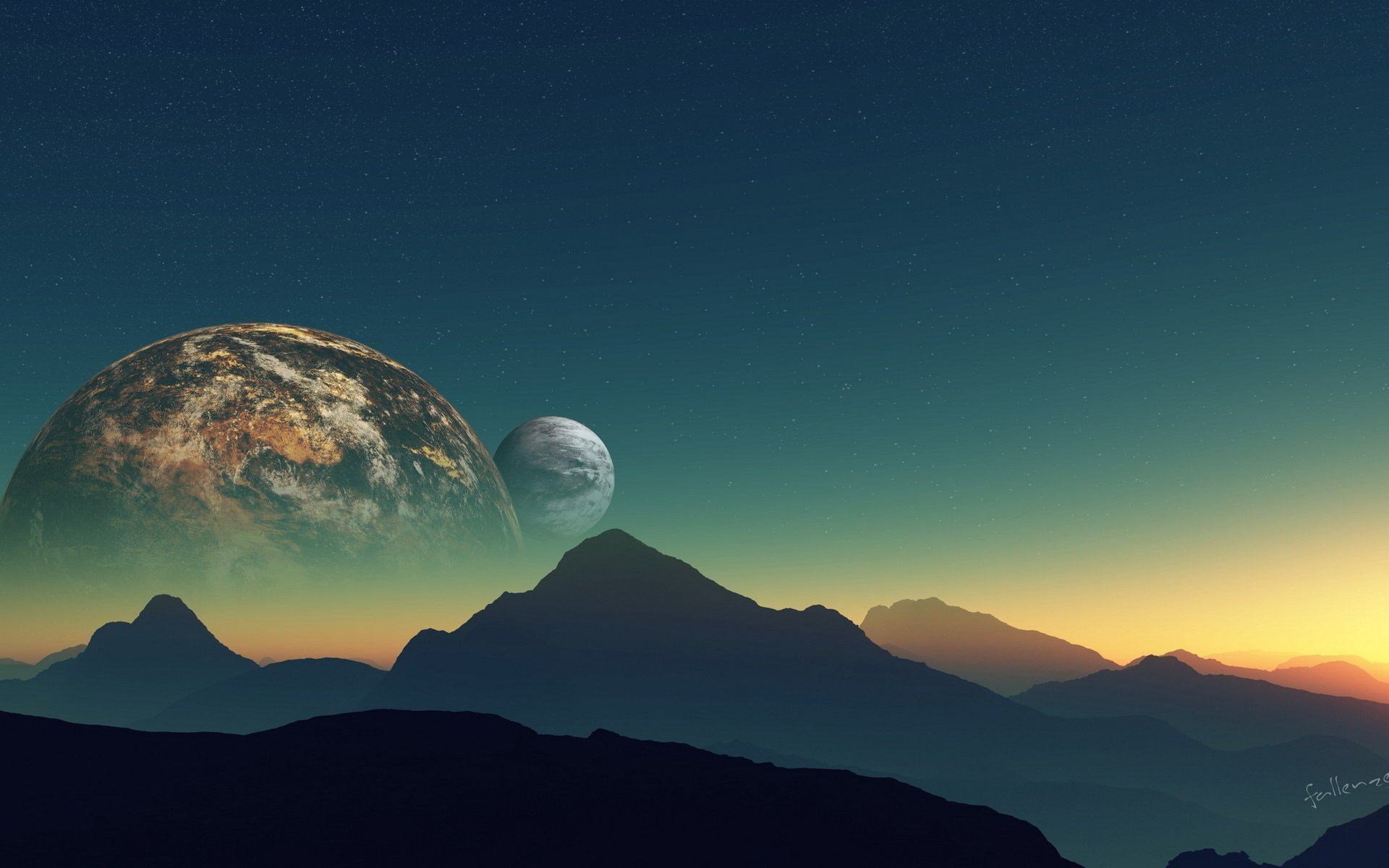 Nice wallpapers Planet Rise 1920x1200px