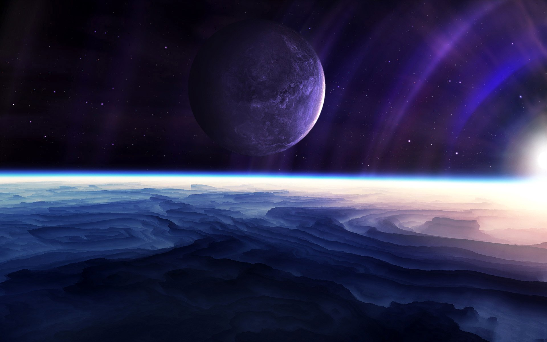 HD Quality Wallpaper | Collection: Sci Fi, 1920x1200 Planetscape
