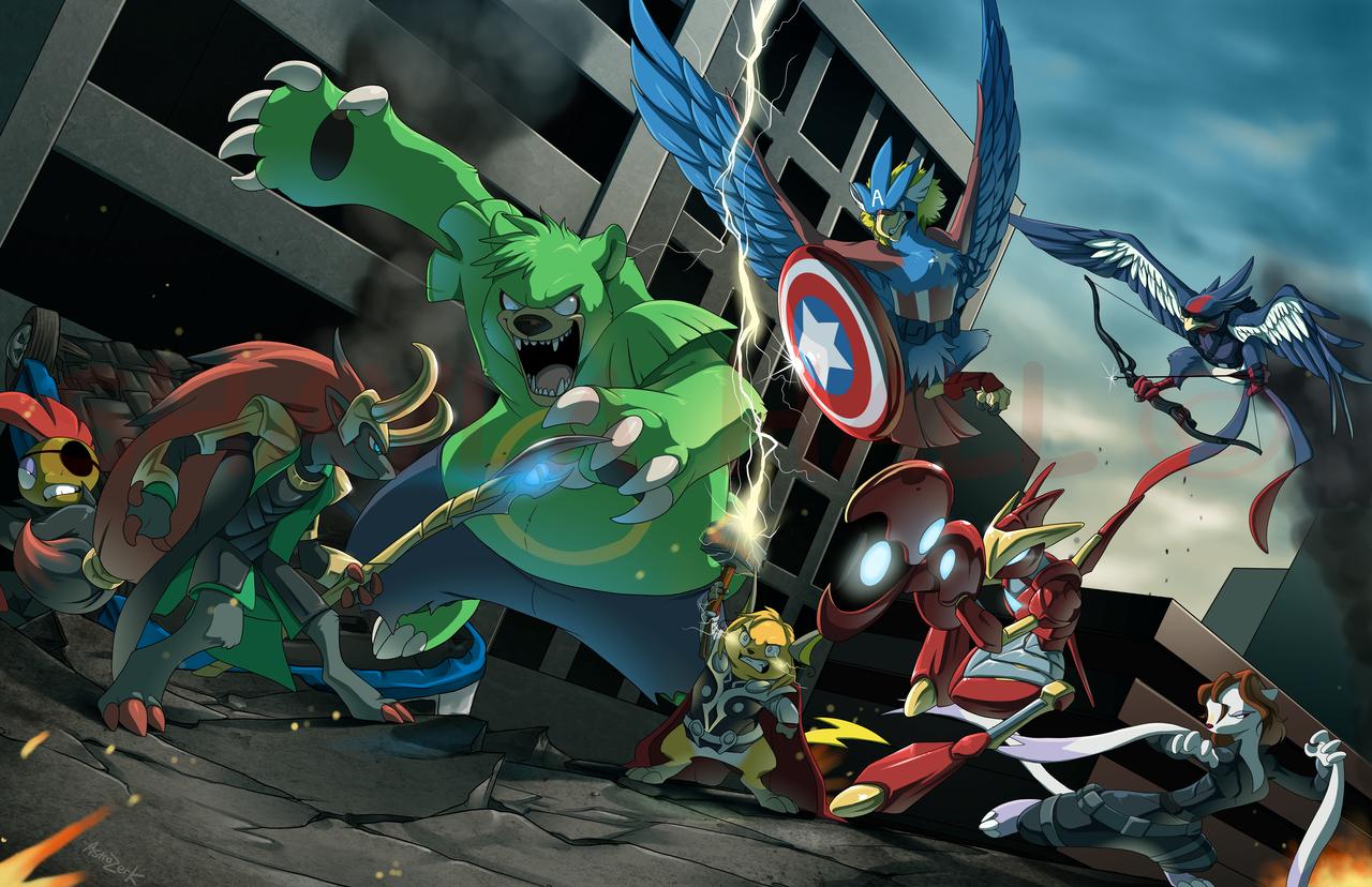 High Resolution Wallpaper | Pokemon Avengers 1280x828 px