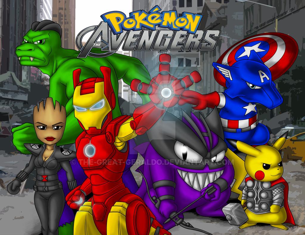 High Resolution Wallpaper | Pokemon Avengers 1024x791 px