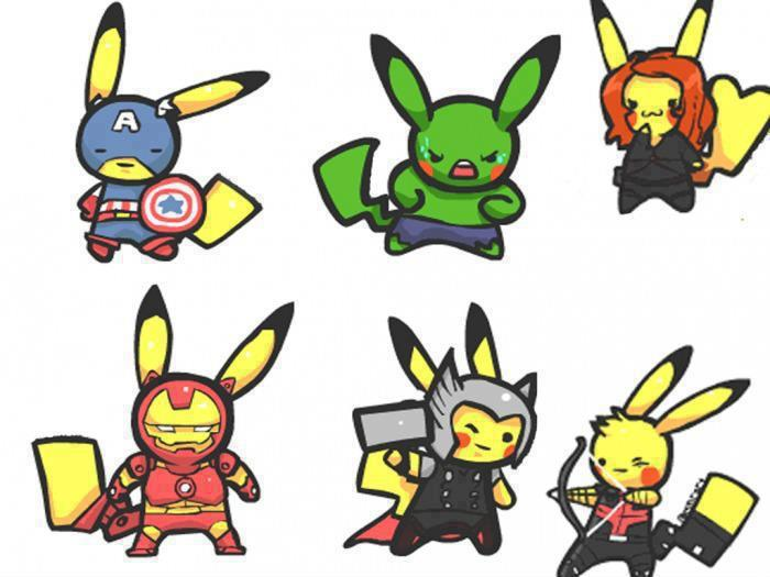 Pokemon Avengers Pics, Cartoon Collection