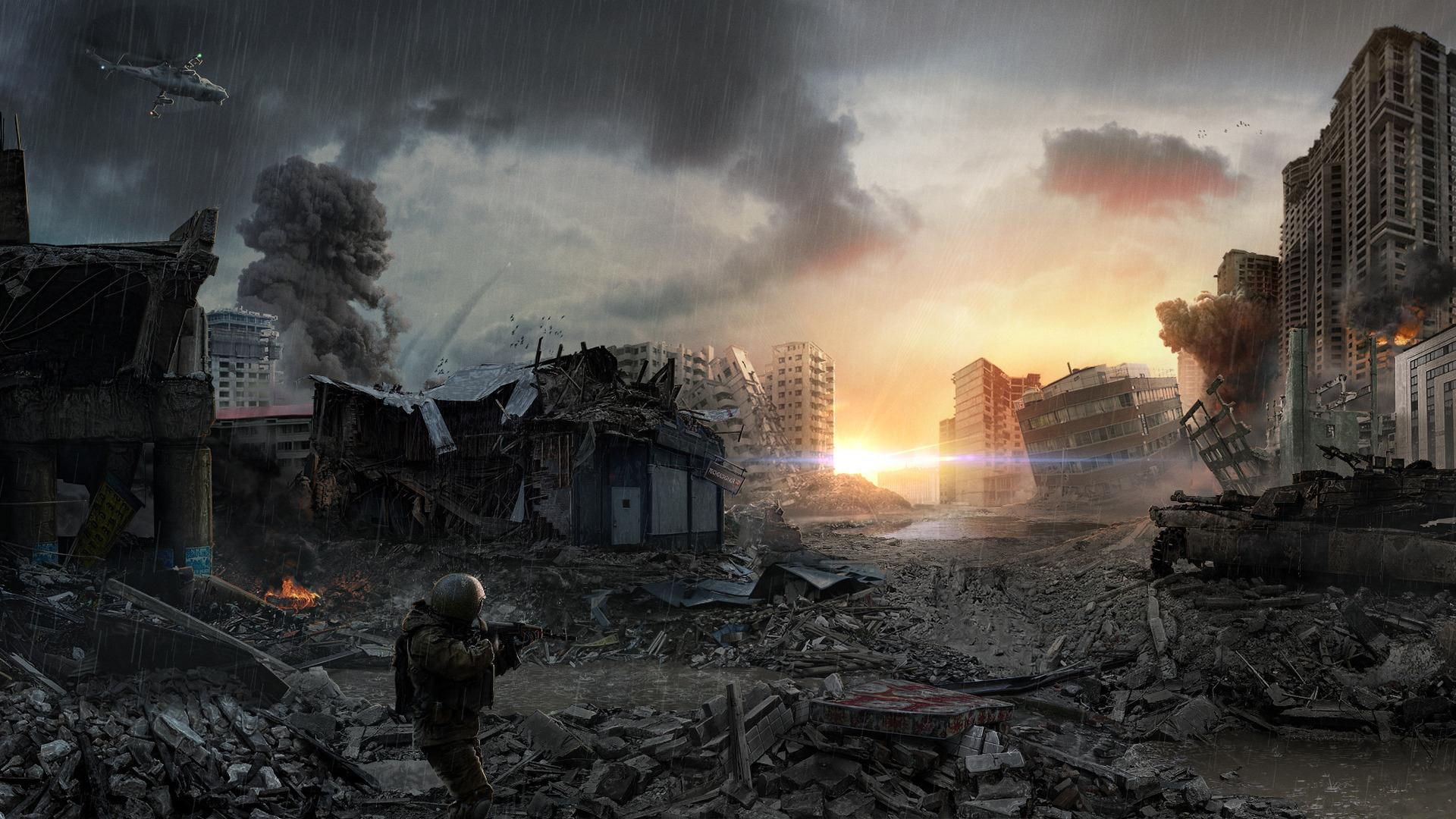 Post Apocalyptic Backgrounds, Compatible - PC, Mobile, Gadgets| 1920x1080 px