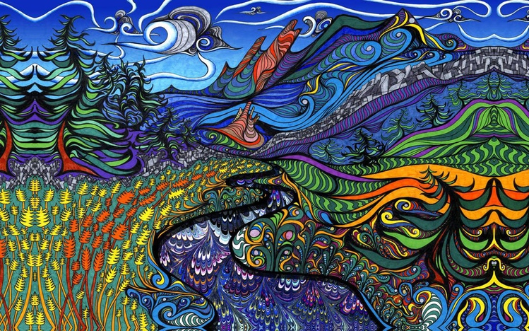 HD Quality Wallpaper | Collection: Artistic, 749x468 Psychedelic