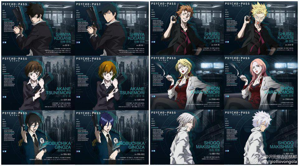 Psycho-Pass Pics, Anime Collection