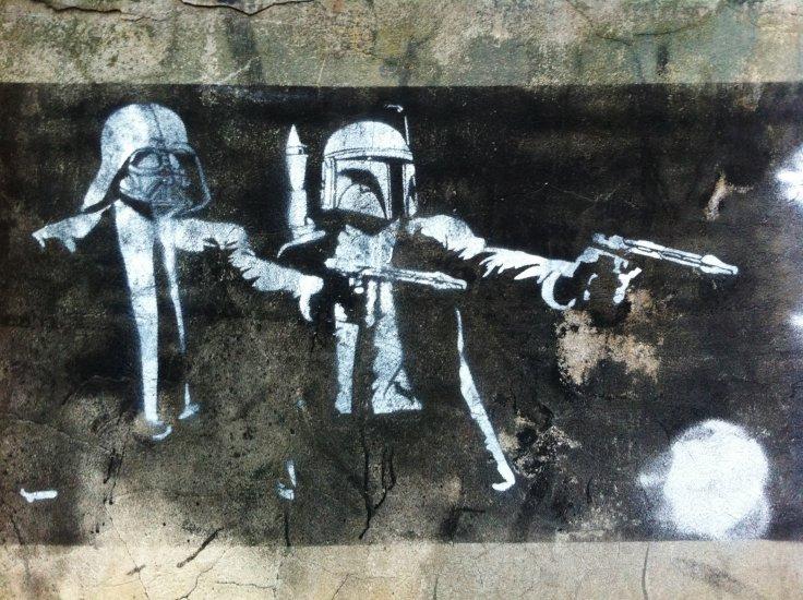 High Resolution Wallpaper | Pulp Fiction Street Art 736x550 px