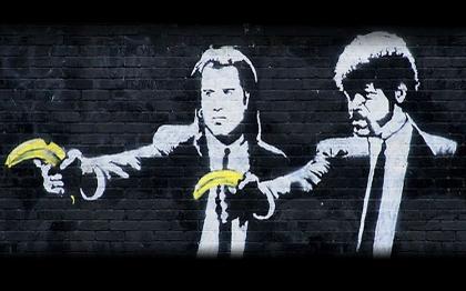 HD Quality Wallpaper | Collection: Artistic, 420x262 Pulp Fiction Street Art