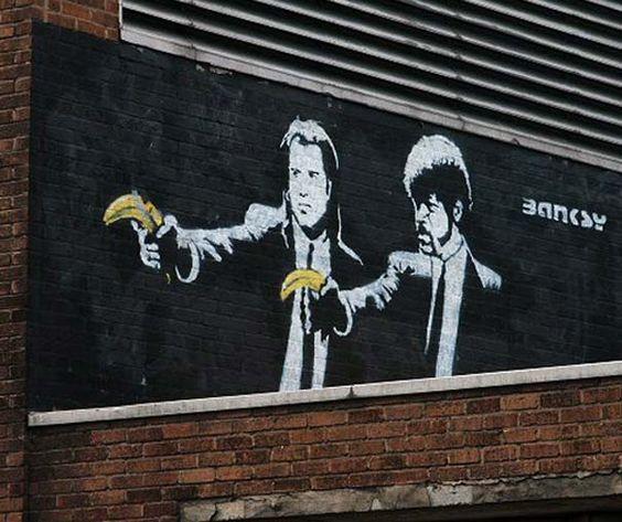 High Resolution Wallpaper | Pulp Fiction Street Art 564x473 px