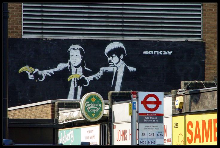HQ Pulp Fiction Street Art Wallpapers | File 362.9Kb