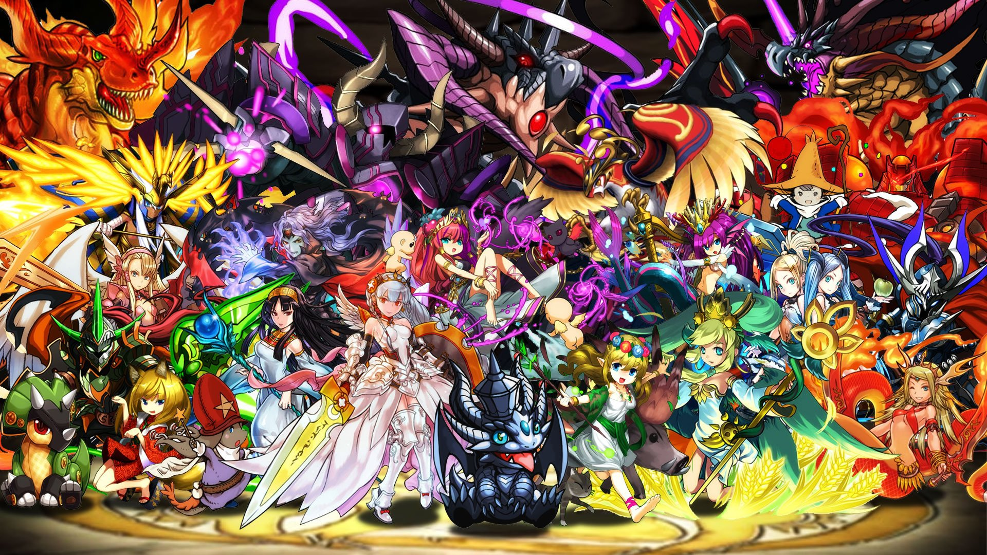 HD Quality Wallpaper | Collection: Anime, 1920x1080 Puzzle & Dragons