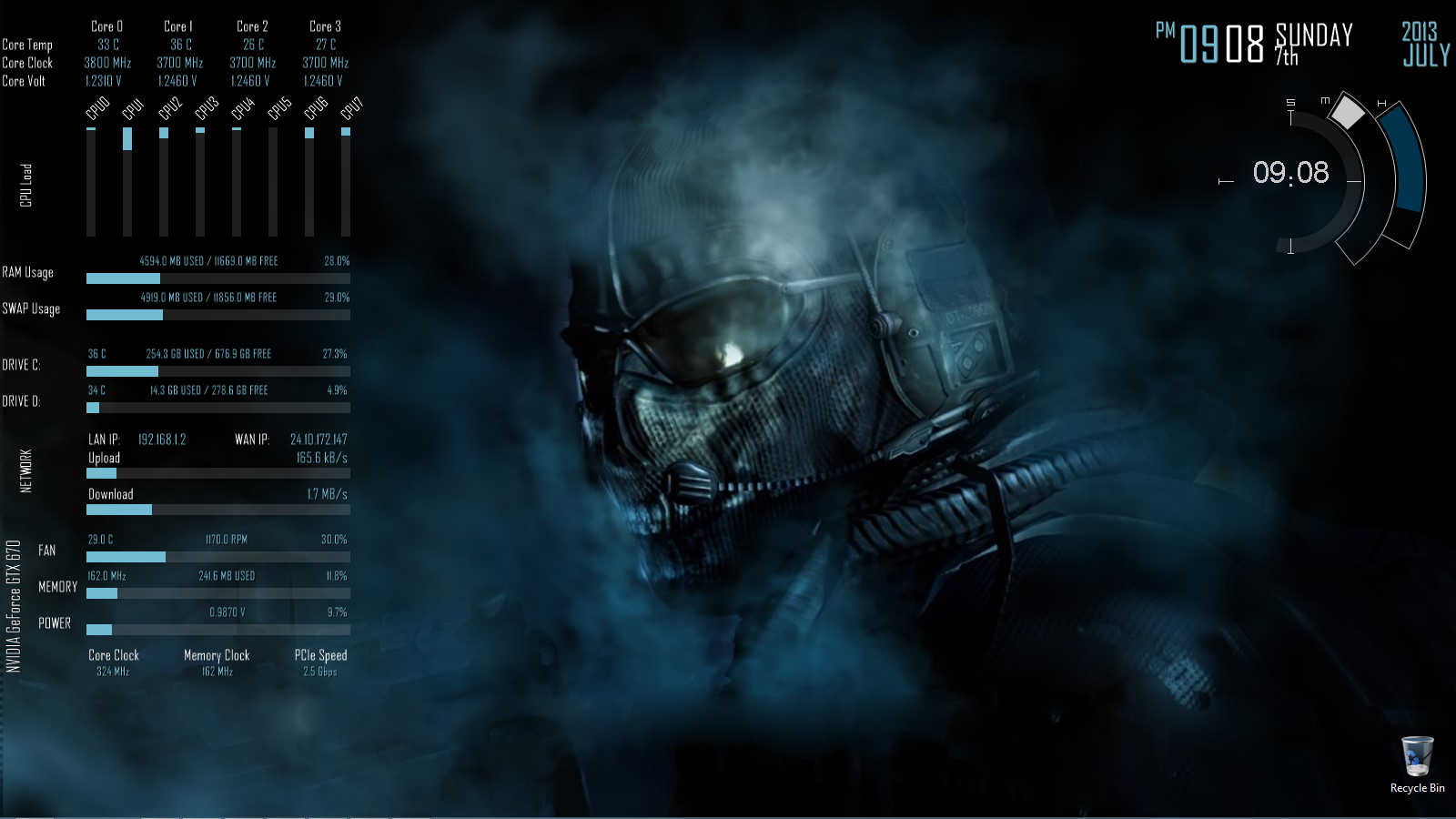 HD Quality Wallpaper | Collection: Technology, 1600x900 Rainmeter
