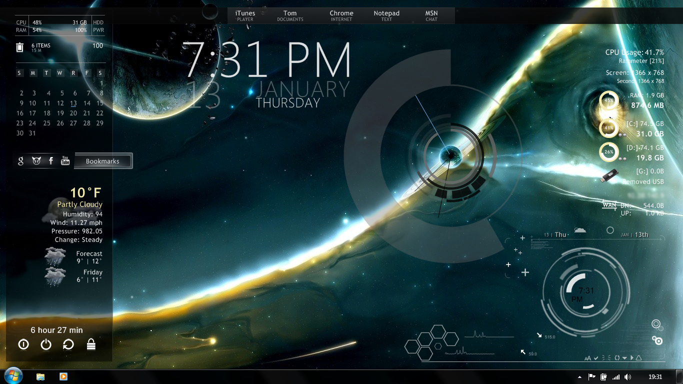 HQ Rainmeter Wallpapers | File 1225.21Kb