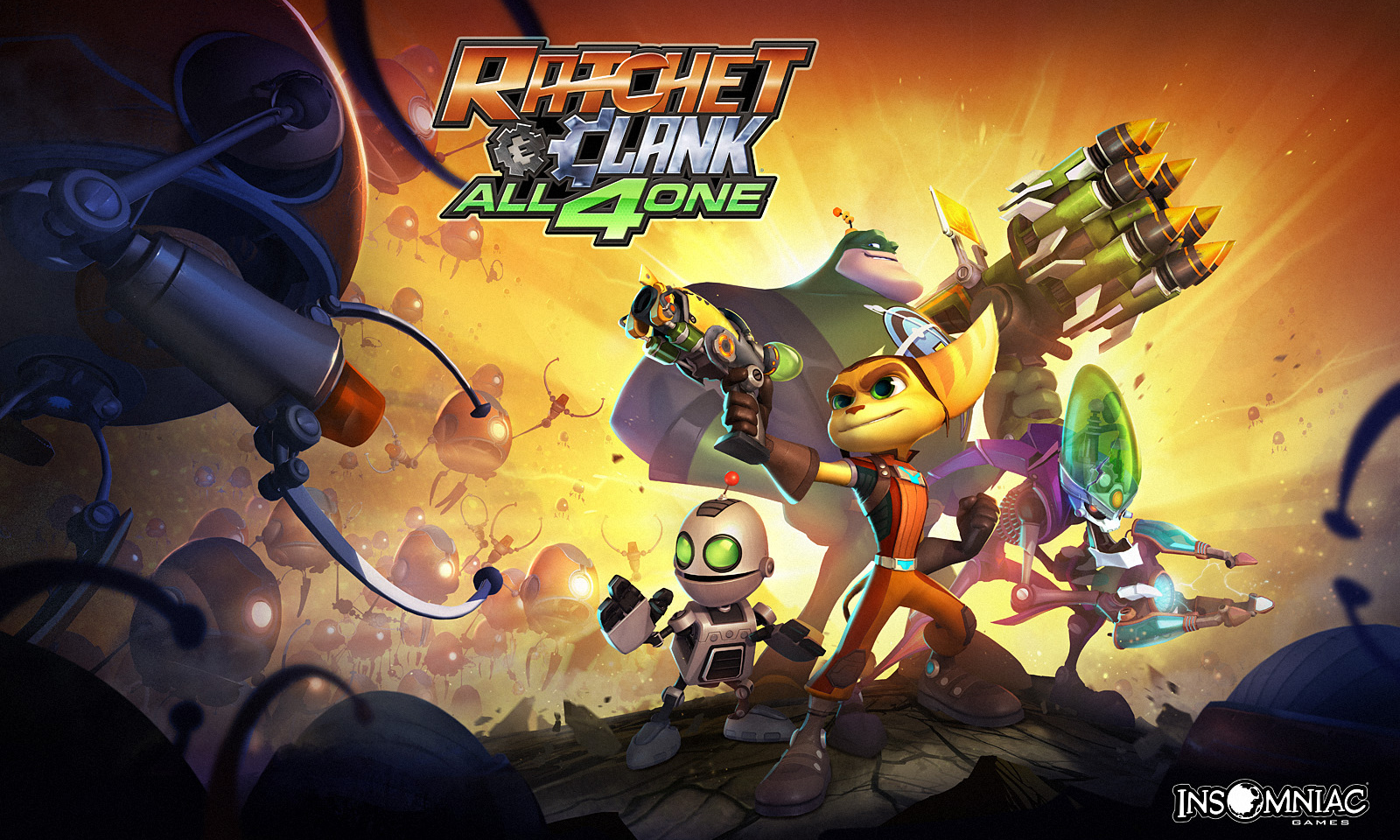 Ratchet Clank All For One Wallpapers Video Game Hq Ratchet