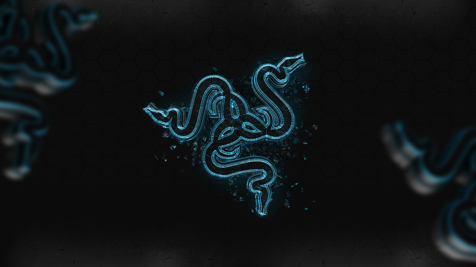 Amazing Razer Blue Graffiti Pictures & Backgrounds