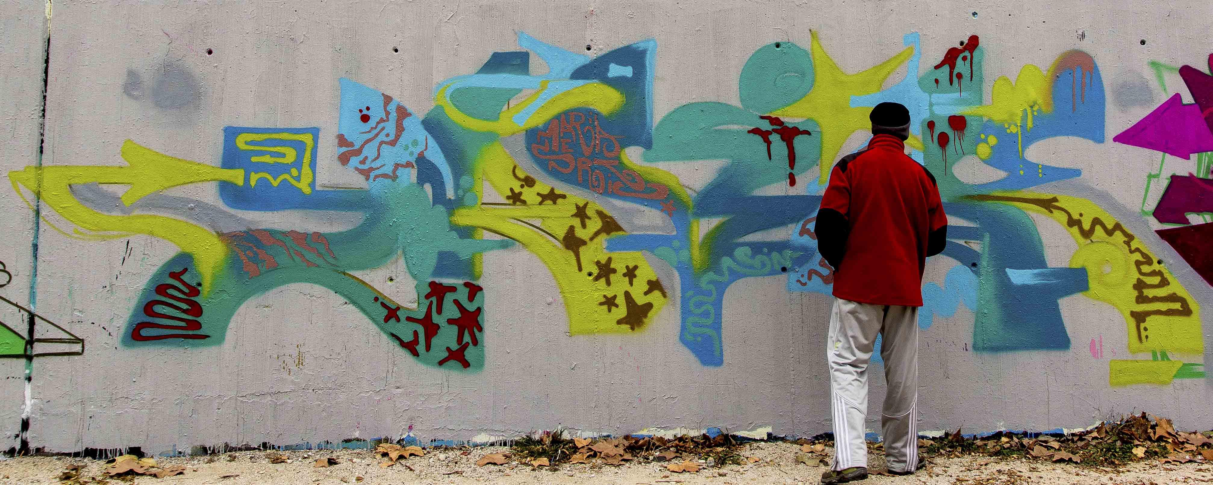 High Resolution Wallpaper   Razer Blue Graffiti 4028x1610 px