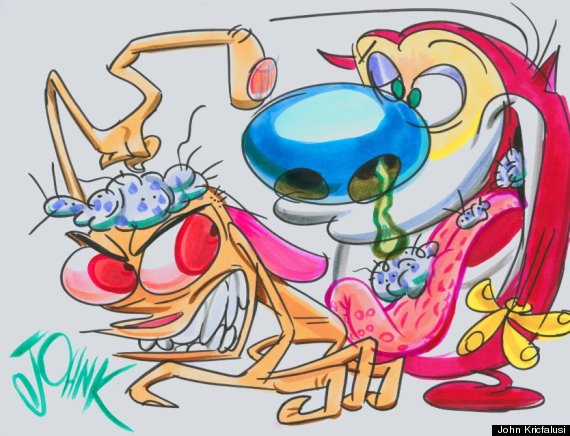 Ren And Stimpy Backgrounds, Compatible - PC, Mobile, Gadgets| 570x436 px
