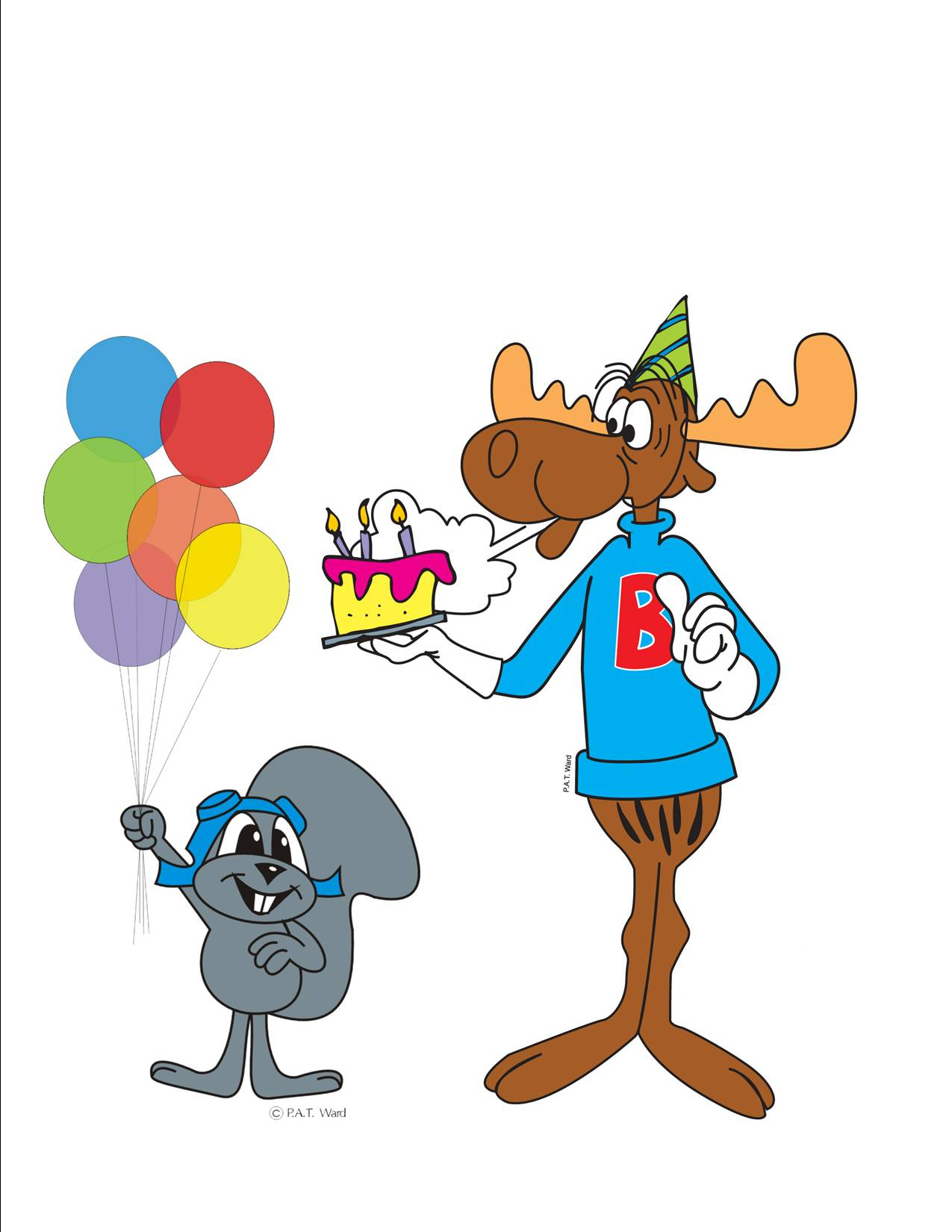 Nice wallpapers Rocky And Bullwinkle 1275x1650px