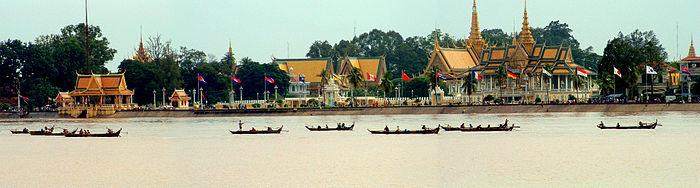 HD Quality Wallpaper | Collection: Man Made, 700x188 Royal Palace, Phnom Penh