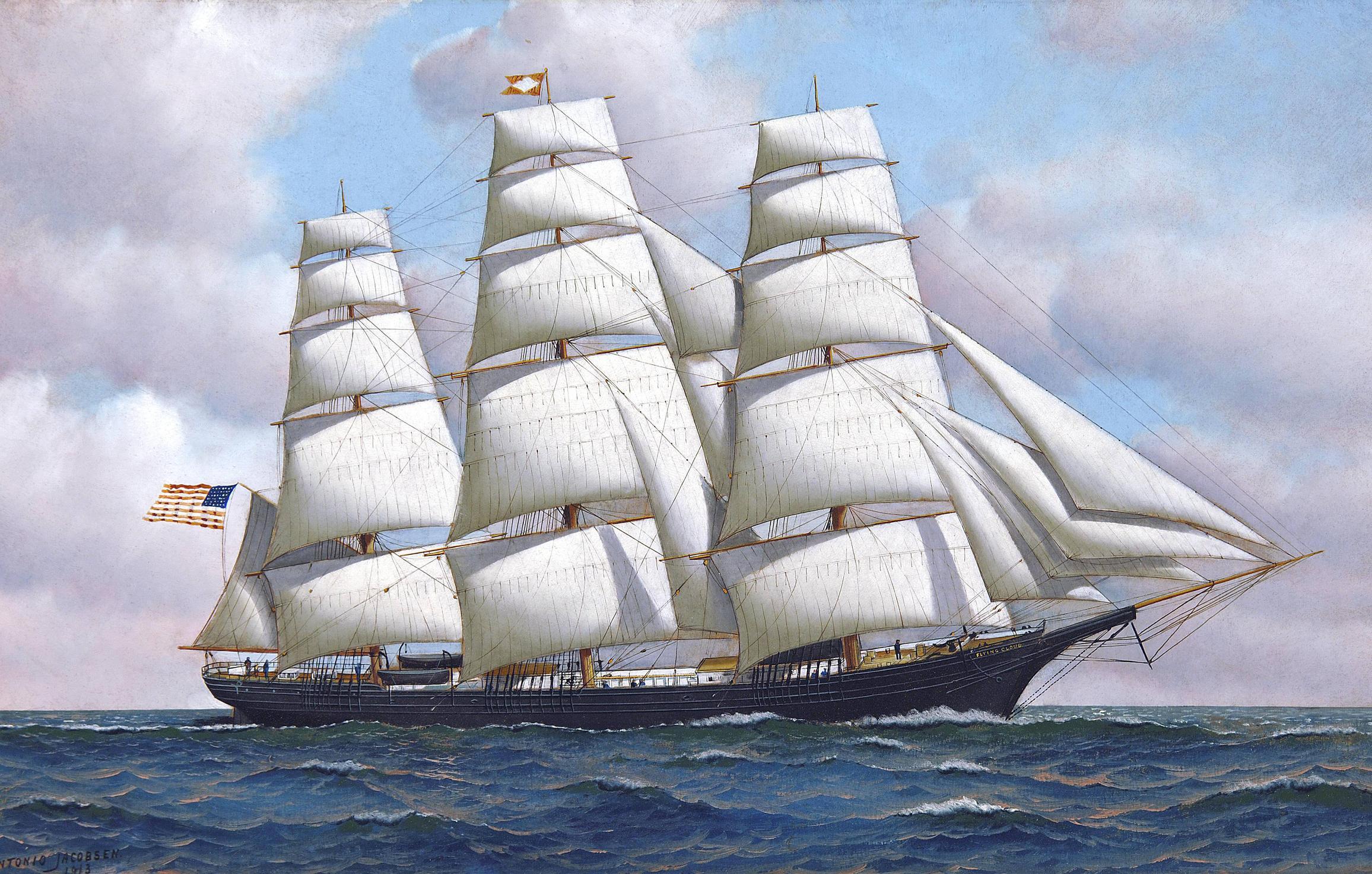 High Resolution Wallpaper | Sailing Ship 2312x1473 px