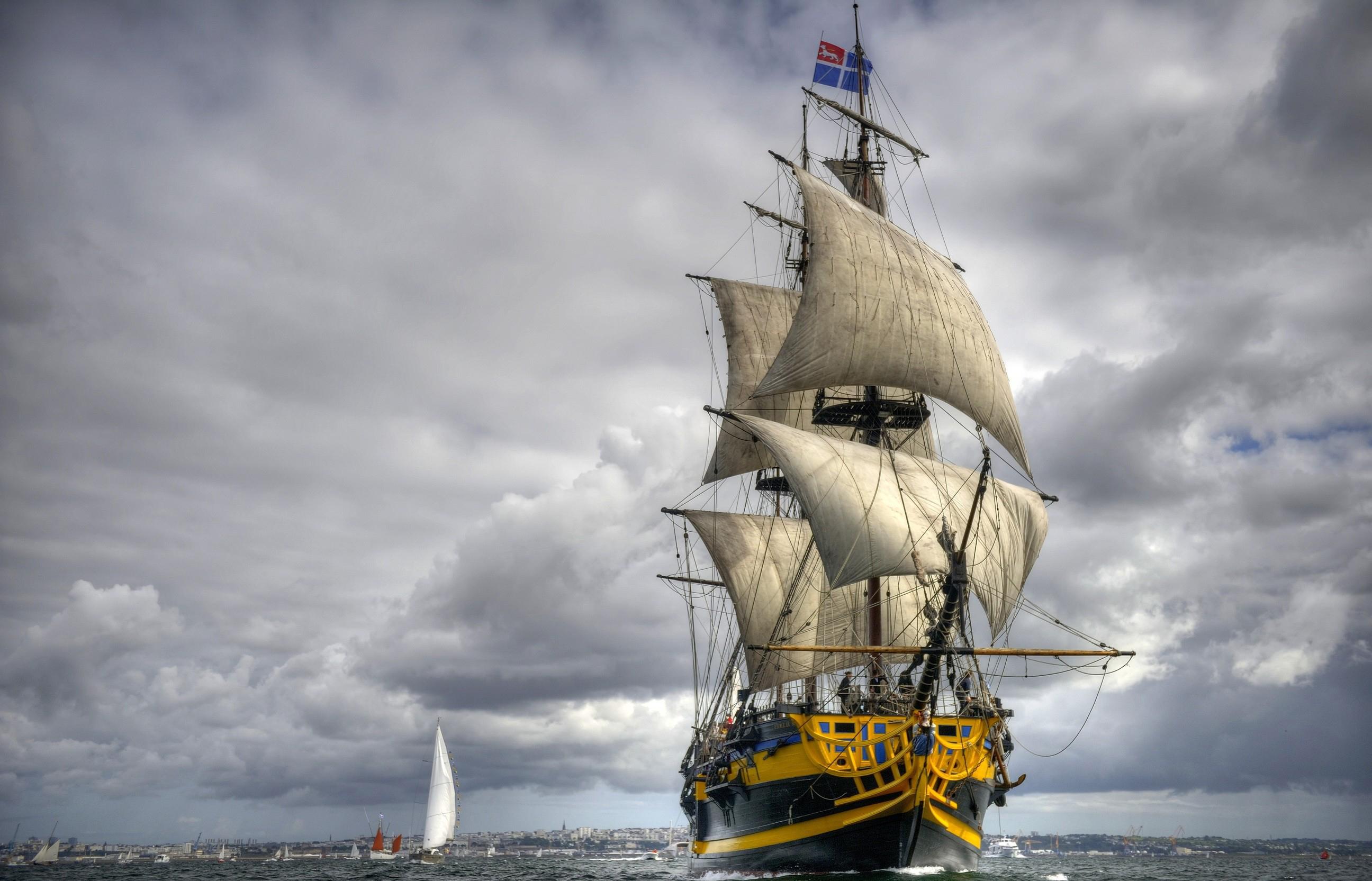 Sailing Ship Backgrounds, Compatible - PC, Mobile, Gadgets| 2592x1665 px
