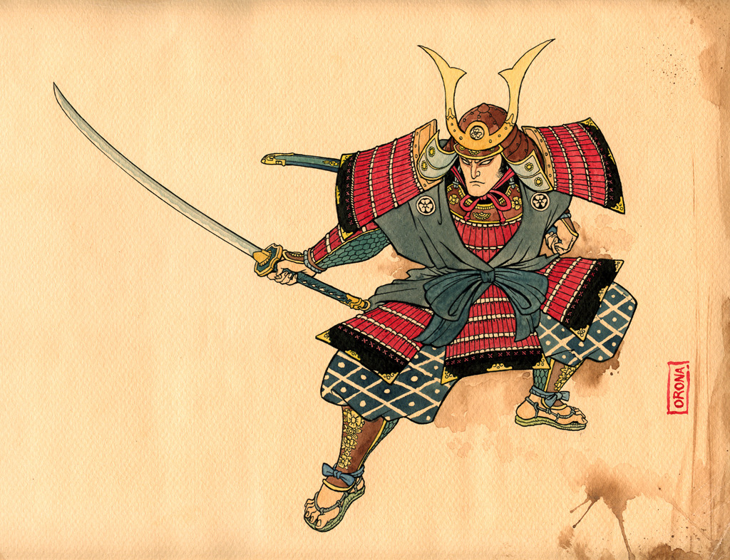 HD Quality Wallpaper | Collection: Artistic, 1024x786 Samurai