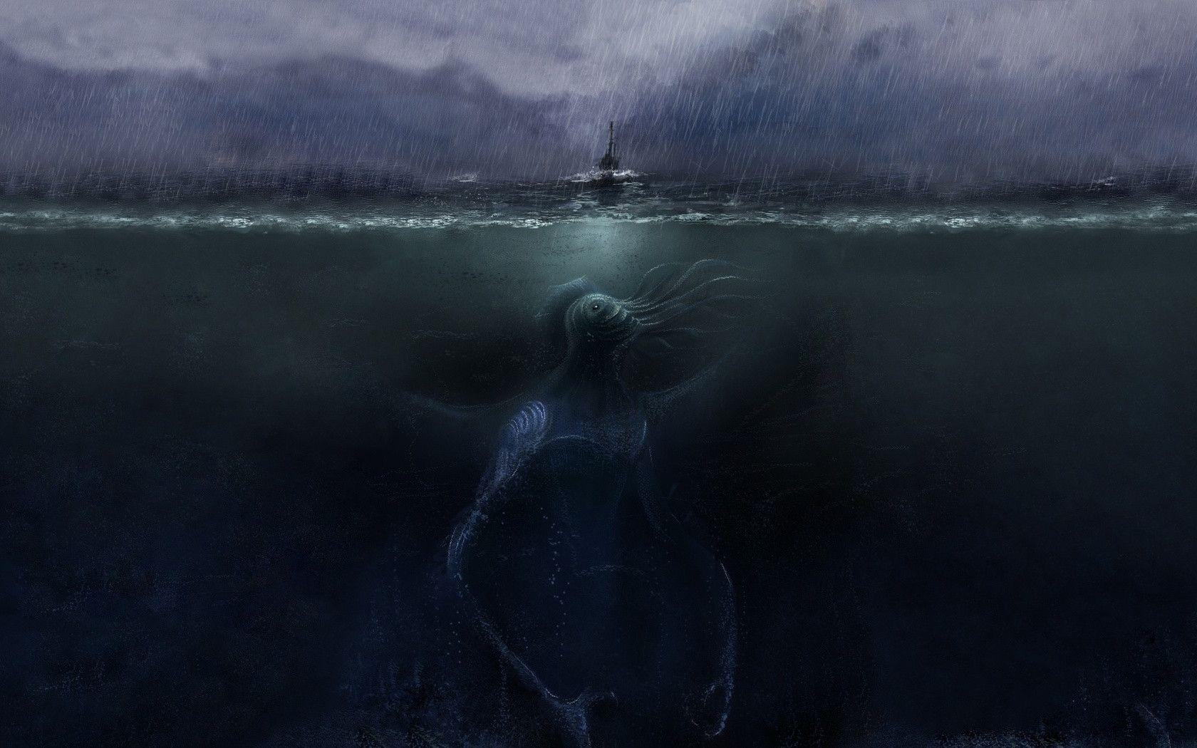 Sea Monster Backgrounds, Compatible - PC, Mobile, Gadgets| 1680x1050 px