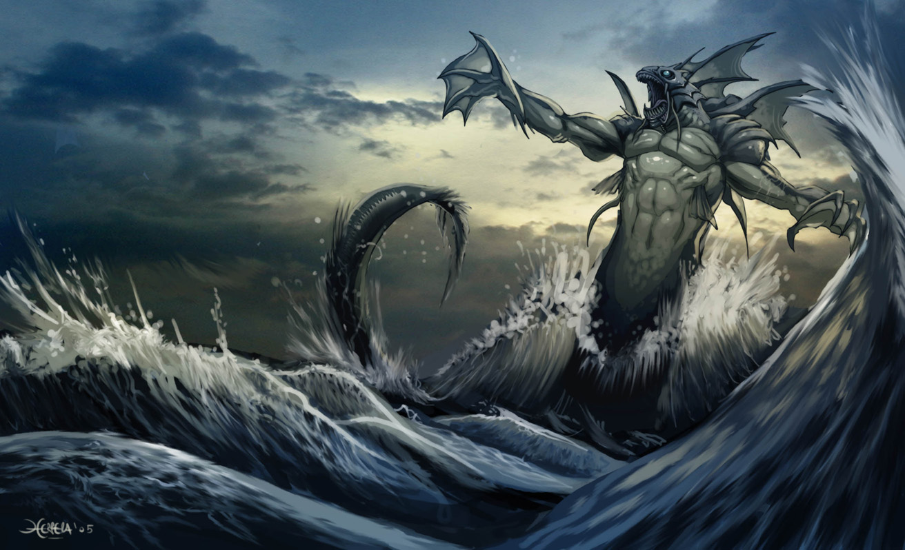Nice Images Collection: Sea Monster Desktop Wallpapers