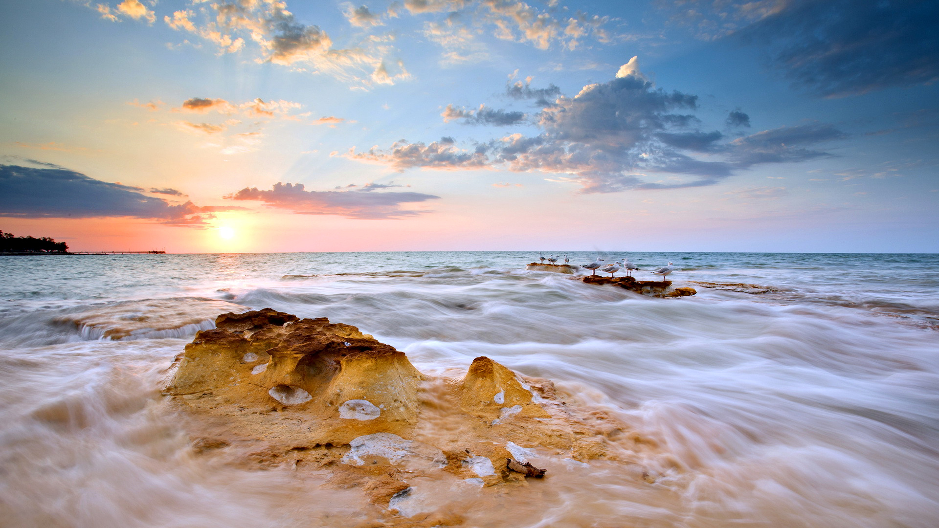 HD Quality Wallpaper | Collection: Artistic, 1920x1080 Seascape