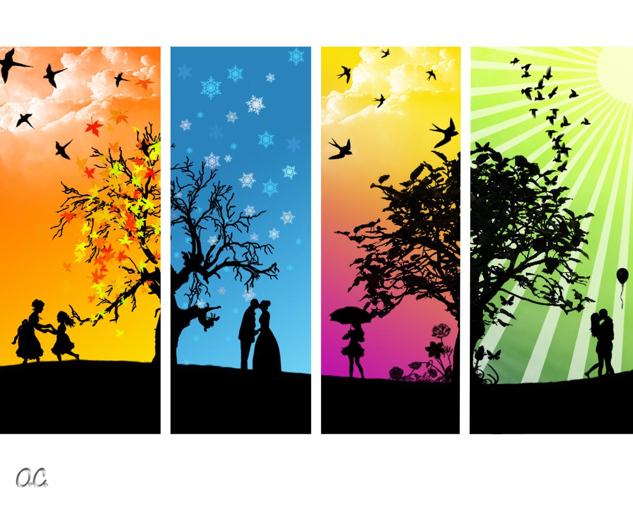 HD Quality Wallpaper | Collection: Artistic, 1280x1024 Season