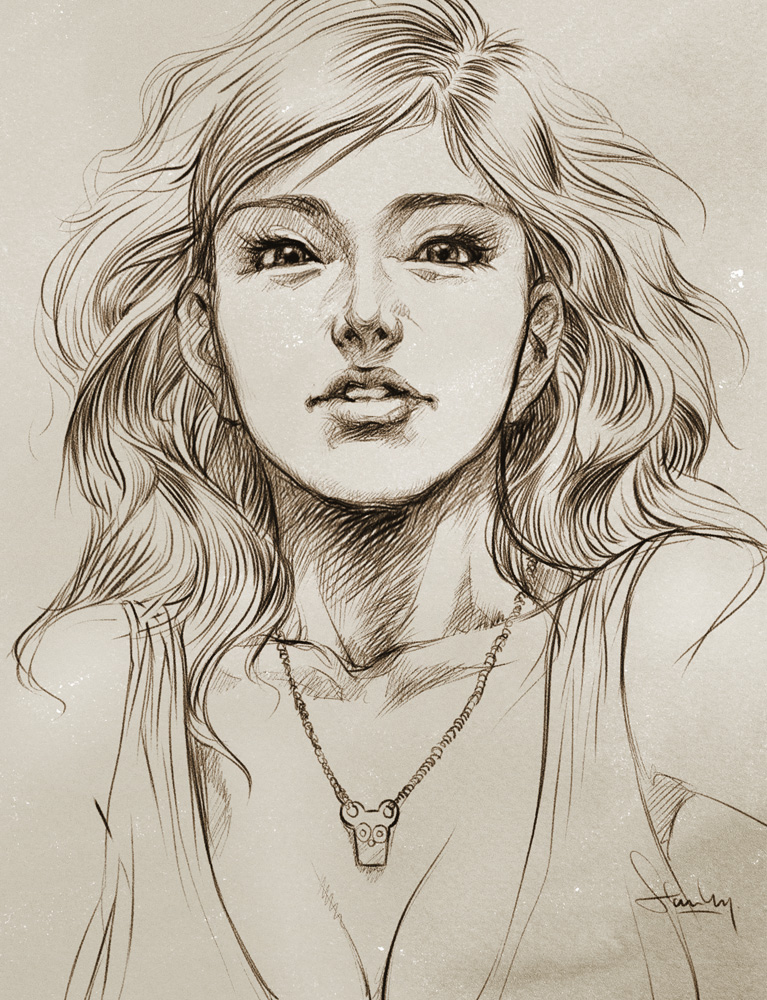HD Quality Wallpaper | Collection: Artistic, 767x1000 Sketch
