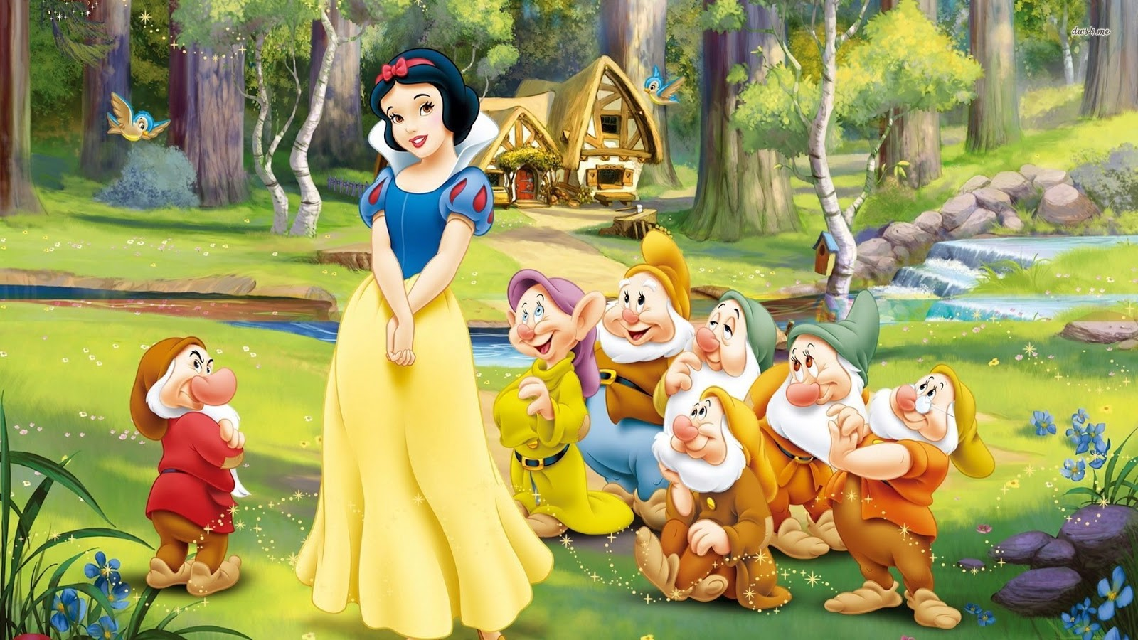 High Resolution Wallpaper | Snow White And The Seven Dwarfs 1600x900 px