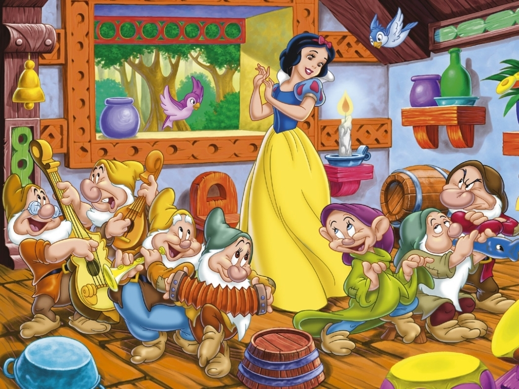 Nice wallpapers Snow White And The Seven Dwarfs 1024x768px