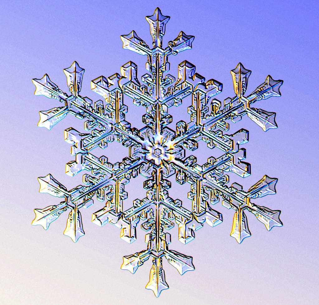 Nice Images Collection: Snowflake Desktop Wallpapers