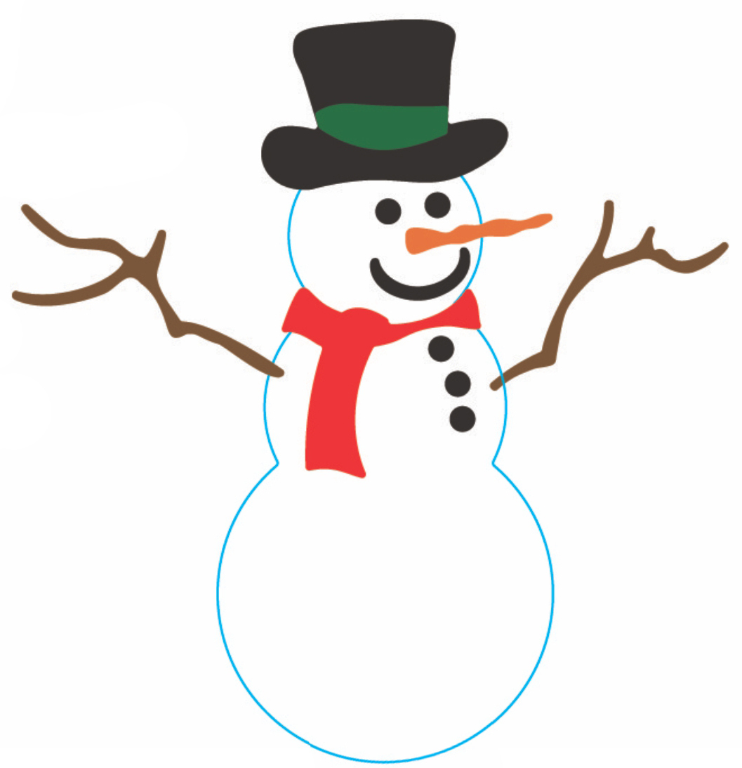 HD Quality Wallpaper | Collection: Artistic, 1057x1093 Snowman