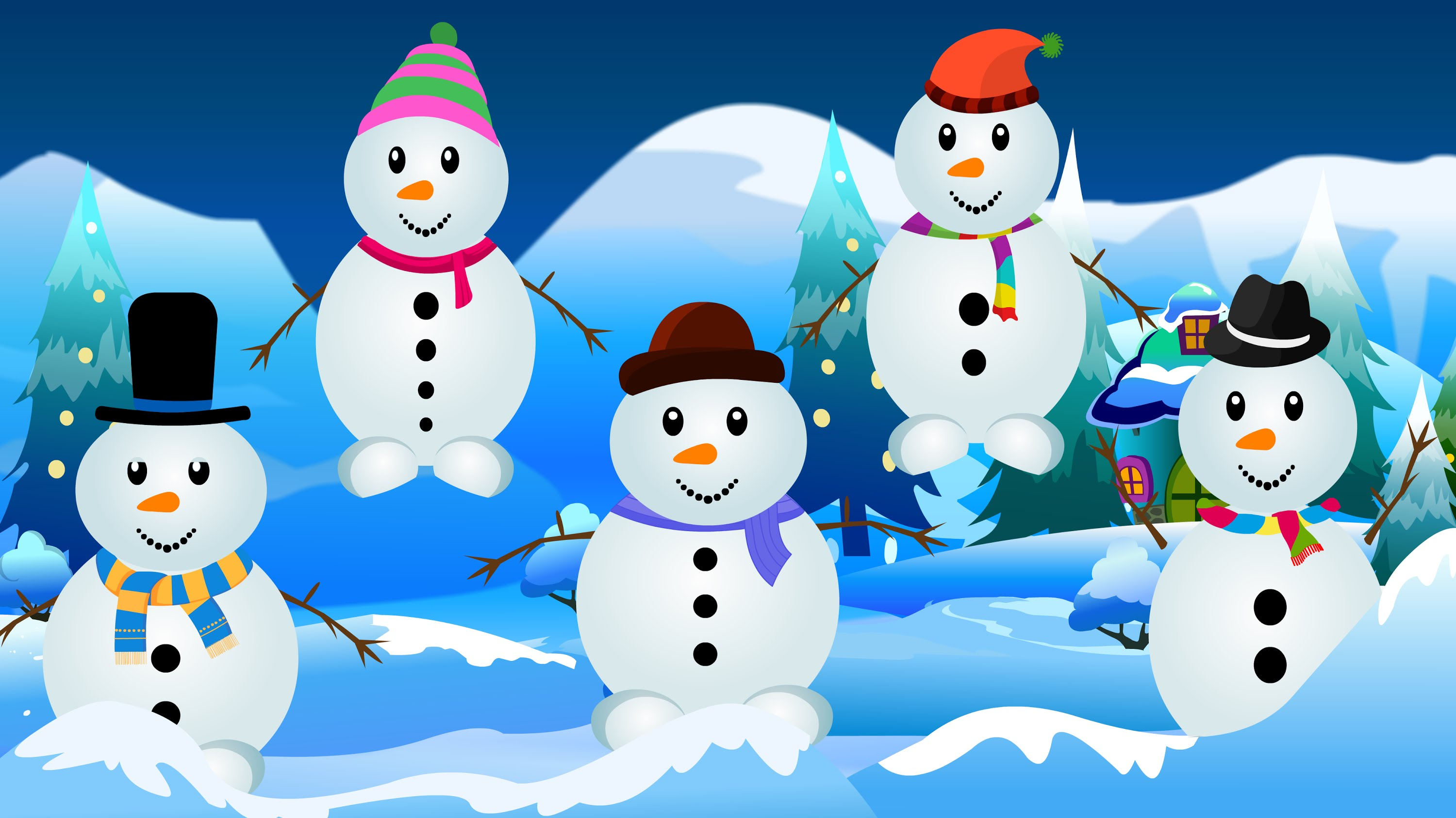 Nice wallpapers Snowman 3000x1688px