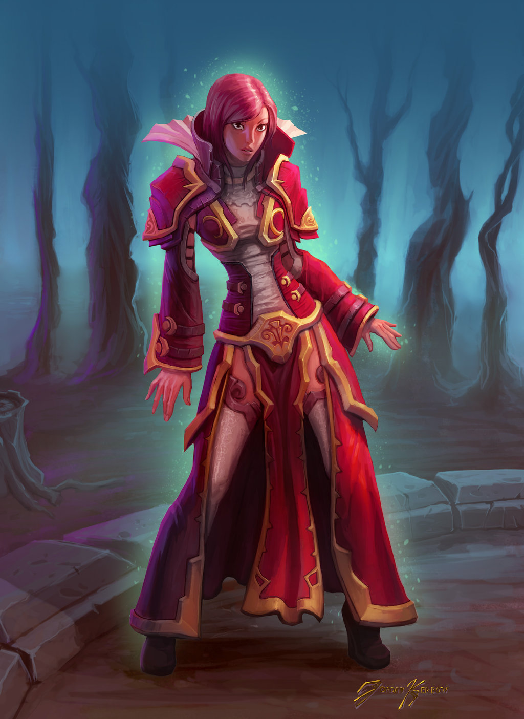 Nice wallpapers Sorceress 1024x1404px