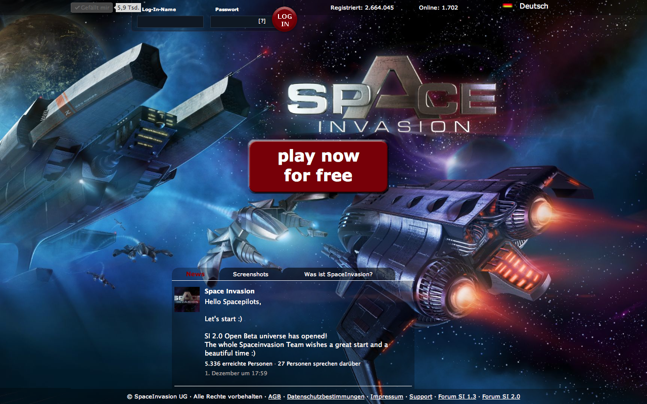Nice Images Collection: Space Invasion Desktop Wallpapers