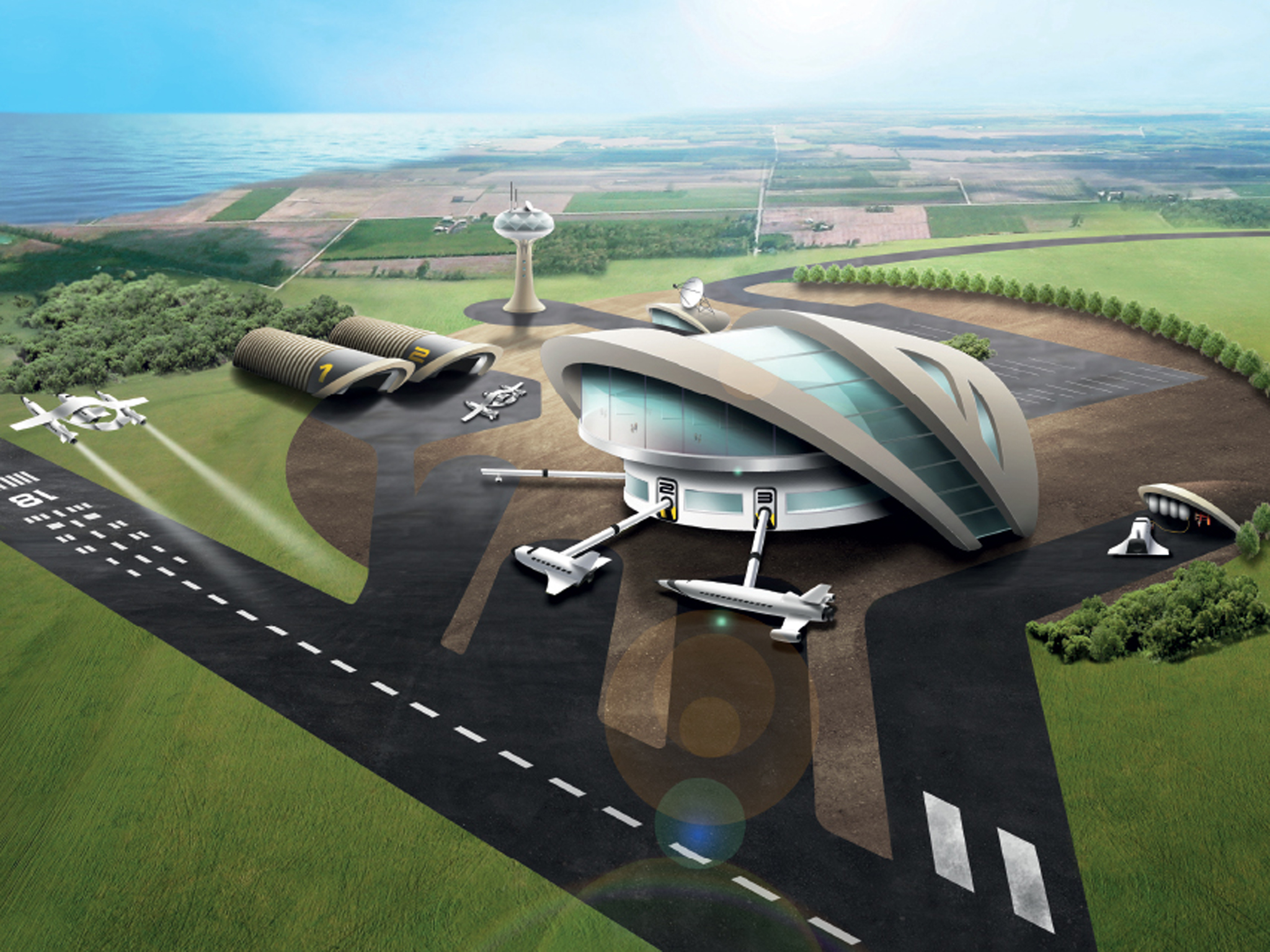 Spaceport High Quality Background on Wallpapers Vista