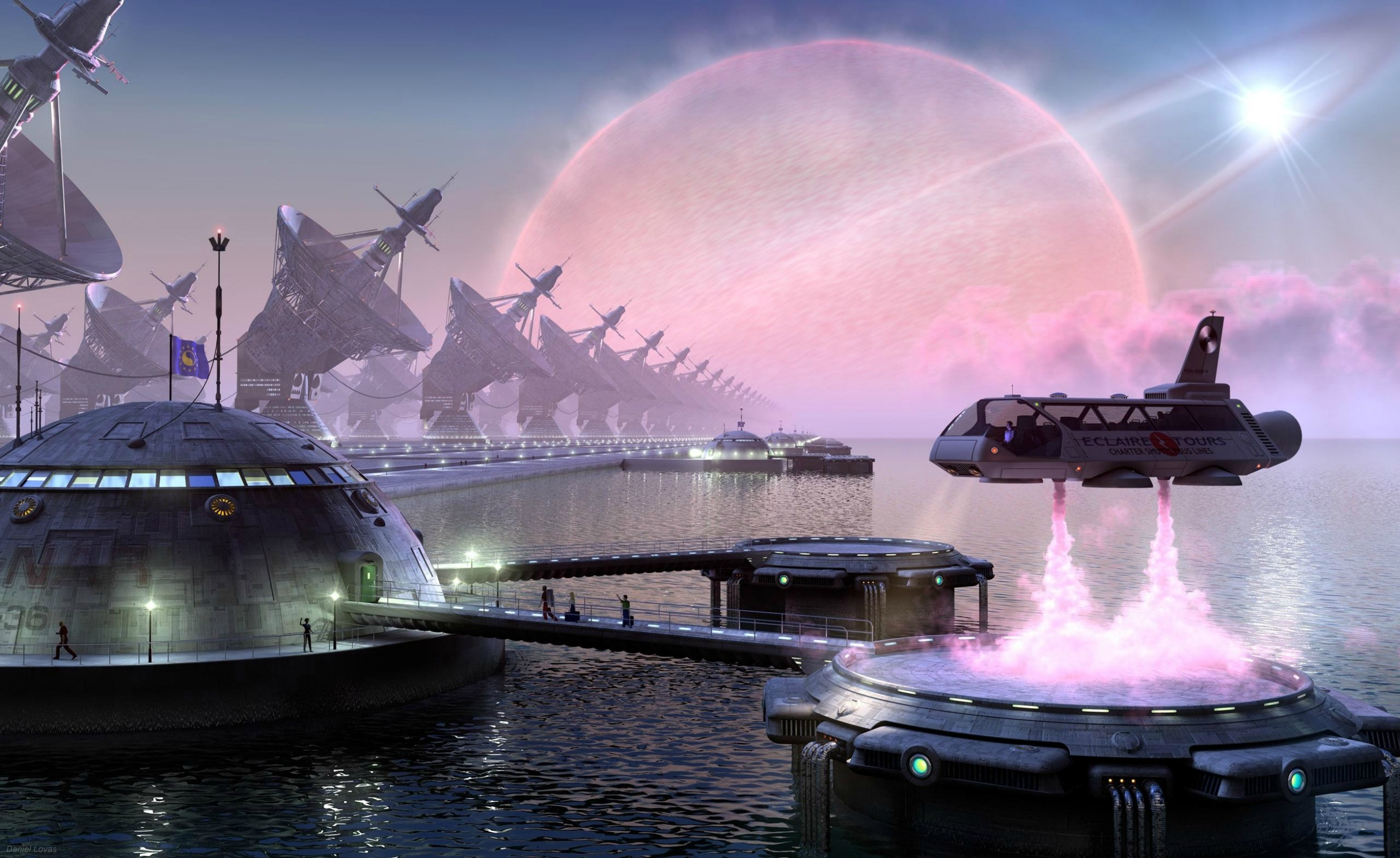 Spaceport Backgrounds, Compatible - PC, Mobile, Gadgets  2611x1600 px