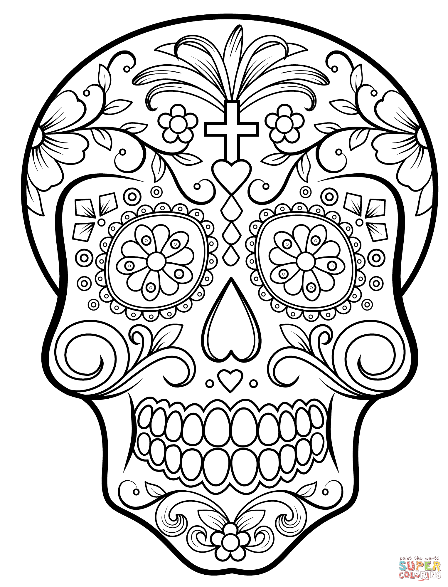 HD Quality Wallpaper | Collection: Artistic, 1526x1998 Sugar Skull