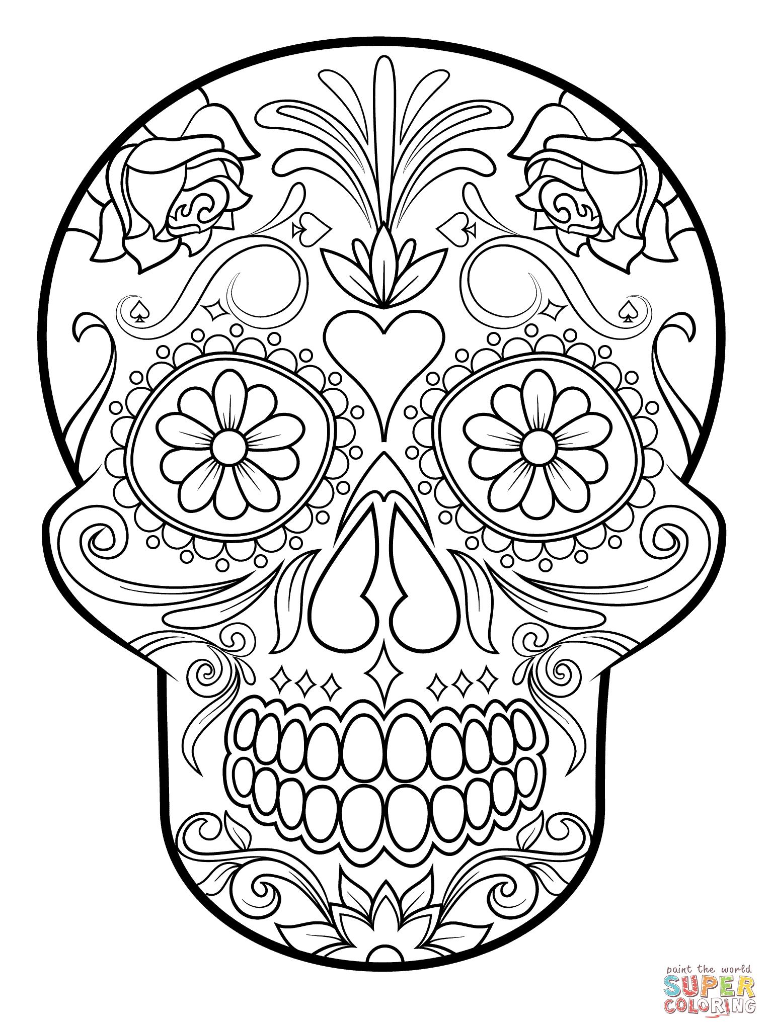 High Resolution Wallpaper | Sugar Skull 1526x2046 px