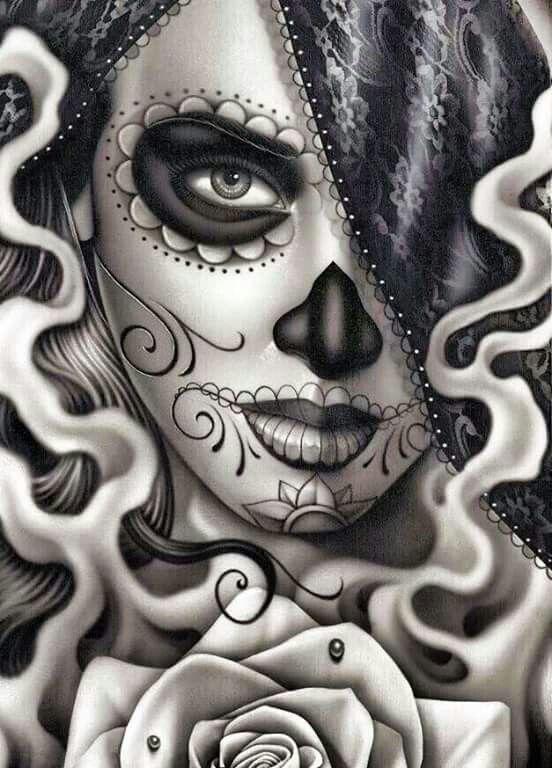 HD Quality Wallpaper | Collection: Artistic, 552x768 Sugar Skull