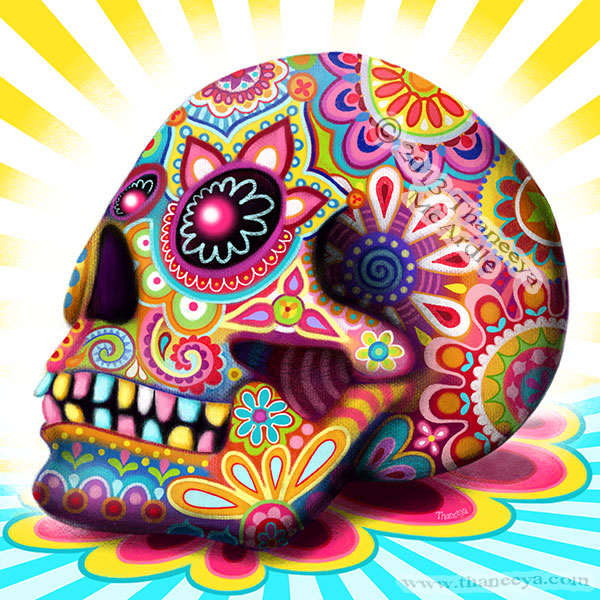 Sugar Skull Backgrounds, Compatible - PC, Mobile, Gadgets| 600x600 px