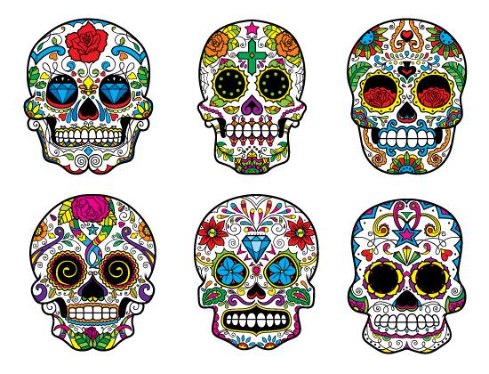 HD Quality Wallpaper | Collection: Artistic, 550x420 Sugar Skull
