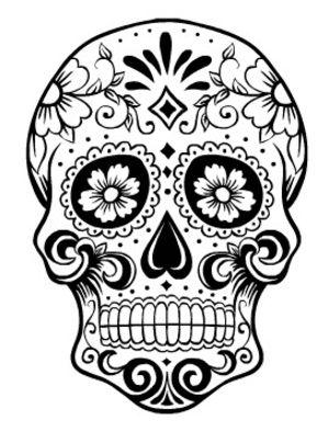 HD Quality Wallpaper | Collection: Artistic, 300x394 Sugar Skull