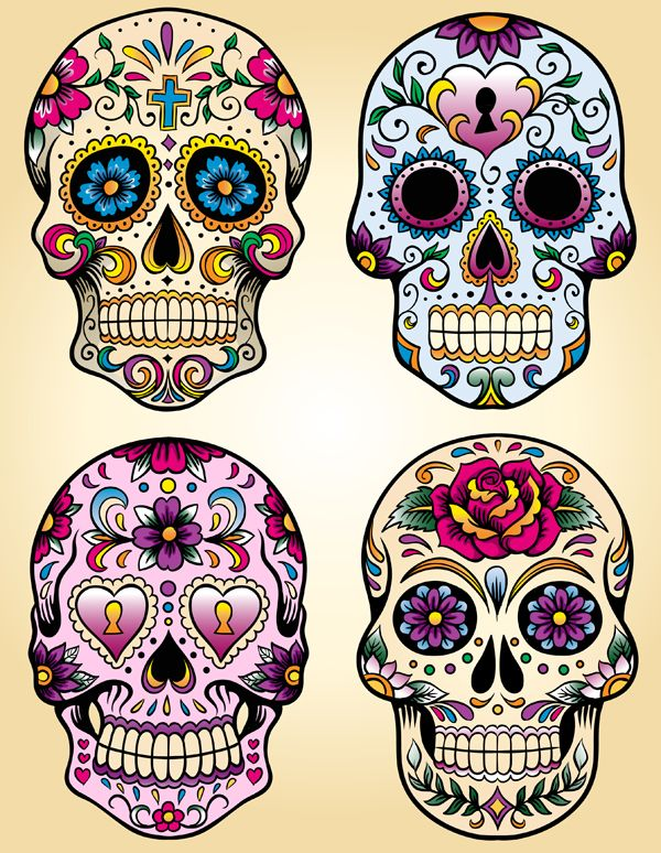 Sugar Skull Backgrounds, Compatible - PC, Mobile, Gadgets| 600x774 px