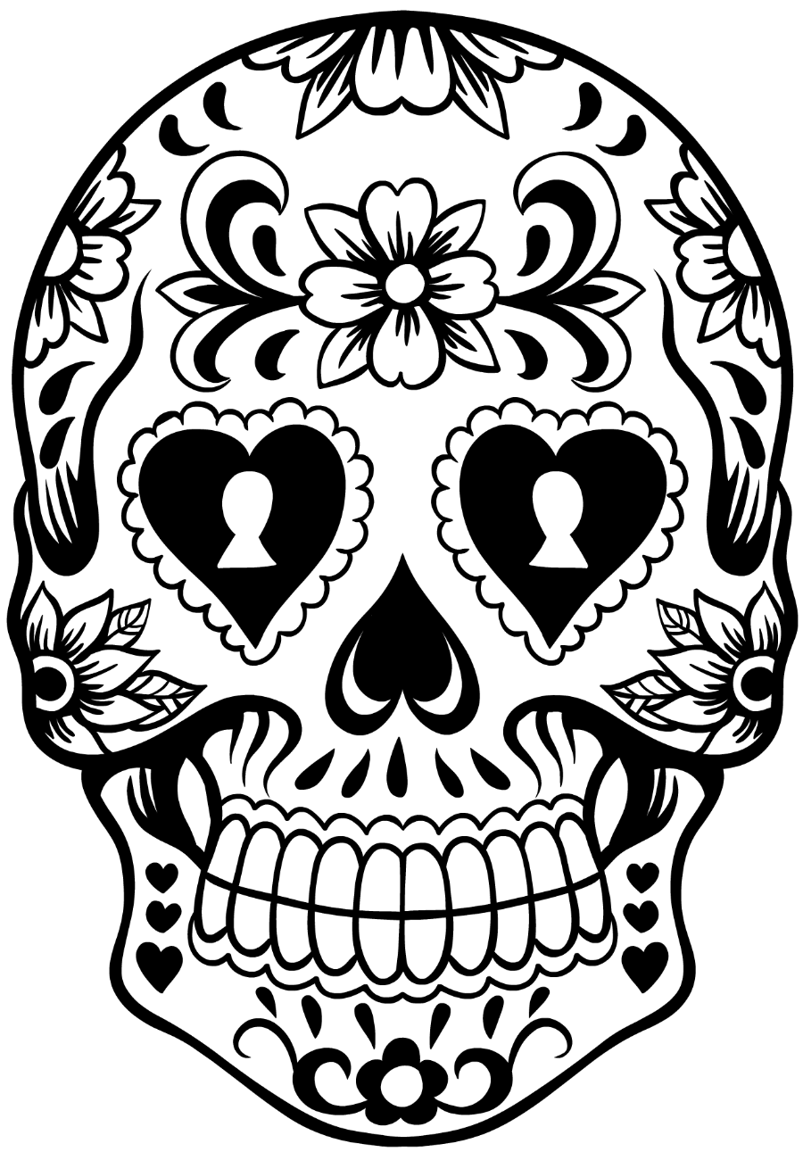 HD Quality Wallpaper | Collection: Artistic, 900x1291 Sugar Skull